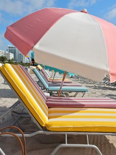The Confidante, The Confidante Miami Beach, Confidante Miami, Hyatt Hotels, Hyatt, Hyatt Miami, South Beach, Miami hotels, south beach hotels, beach umbrellas, tropical oasis, lush pool, pastels, cabana stripes, cute beaches, patio furniture, art deco, mid-century modern, Sarah Meyer, sarah in style, sarahinstyle.com, design blog, design blogger, Florida beaches