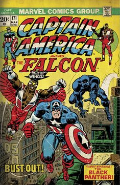Captain America: The Falcon Mural - Officially Licensed Marvel Removable Wall Adhesive Decal XL by Fathead | Vinyl