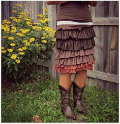Womens Ruffle skirtSIZES XSXL by marcellas3monkeys on Etsy, $52.00