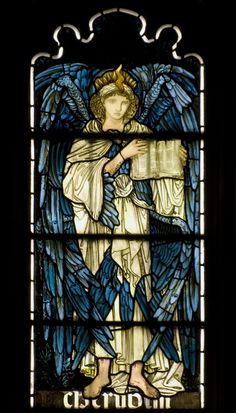 Cherubim / Stained Glass Window From Cambridge, Jesus College Chapel, South Transept, South Window, Cerubim. Stained Glass Church, Stained Glass Angel, Stained Glass Paint, Tiffany Stained Glass, Tiffany Glass, Stained Glass Windows, Leaded Glass, Mosaic Glass, Glass Art