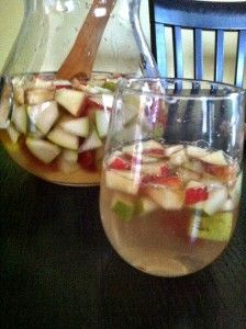 White Pear and Apple Sangria from A Cedar Spoon