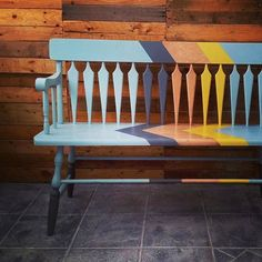 Hallway Bench by Malenka Originals. Painted with Chalk Paint™ by Annie Sloan.
