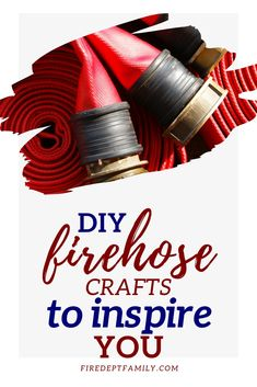 Recycled Fire hose has become a hot item for fire hose crafts and fire hose gifts. Look at the DIY and gift options available- all made from firehose! Firefighter Training, Firefighter Family, Firefighter Wedding, Firefighter Decor, Fire Hose Projects, Fire Hose Crafts, Fire Dept, Fire Department, Firefighter Baby Showers