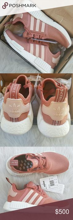 Adidas NMD Raw Blush Pink White Coral Salmon Brand New, in box. Super Rare, sold out colorway. 100% authentic. Price is negotiable. Rude comments will be ignored/blocked. No trades. Adidas Shoes Sneakers