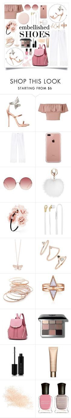 """Shoes"" by aprilcastia on Polyvore featuring moda, Giuseppe Zanotti, Miss Selfridge, Belkin, Linda Farrow, Forever 21, Merkury, Alex Monroe, Topshop y Red Camel"