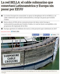 La red BELLA : el cable submarino que conectará Latinoamérica y Europa sin pasar por EEUU / @diarioturing   #readyfordigitalcitizenship #sci #tech #inn