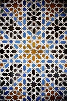 closeup of a ceramic tile in Reales Alcazares, Seville, Andalucia, Spain photo Andalucia Spain, Andalusia, Spanish Tile, Plaster Walls, Seville, Islamic Art, Granada, Close Up, Palace