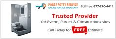 Porta Potty Service is offering its comprehensive range of portable toilets in almost all parts of the United States.