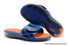 Cheap Superhero Hyper Blue Bright Citrus-Black Nike Air LeBron 2 Elite Slide Sandal