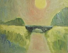 "Jussi Vaarala: "" The more realism and ethics, the better"": The bridge, 50x40 cm"