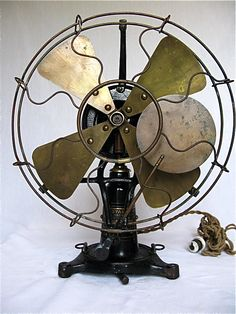 "Robbins & Myers 'The Standard Osc. Fan' (Lollipop) 12"" DC  Circa 1905, American."