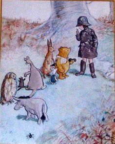 """""""Winnie the Pooh"""" by A A Milne. Illustration by E.H. Shephard"""