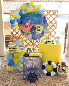Spongebob Birthday Party, 9th Birthday Parties, 25th Birthday, Disco Party, Bob Sponge, Birthday Decorations For Men, Its My Bday, First Birthdays, Party Time