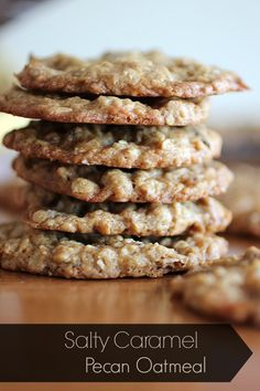 Salty Caramel and Pecan Oatmeal Cookies | My Kitchen Addictions