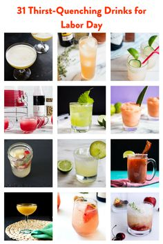 If you're throwing a Labor Day bash this year, your guests will need a few beverages to cool off with after all those smoky, charred dishes from the grill. In addition to the unavoidable beer and wine, a good summer cocktail or two makes a refreshing treat. Here are recipes for 31 of our favorites, both boozy and alcohol-free.