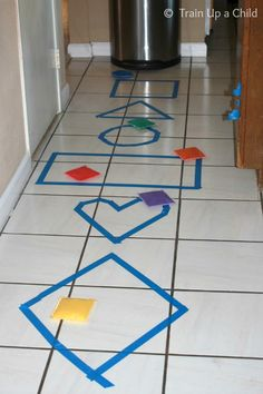 Shape Toss, Hop, Skip and Jump from Learn ~ Play ~ Imagine
