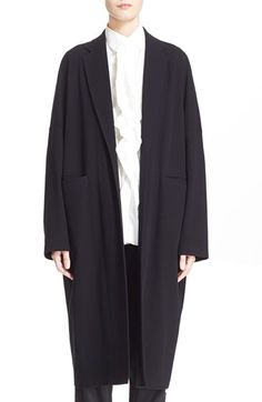 Y's by Yohji Yamamoto Tailored Collar Oversize Coat available at #Nordstrom
