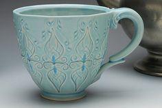 Ceramic coffee cup by KiefferCeramics
