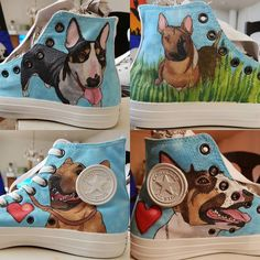 Bull terrier shoes done. And pictures are originally photos.  #paint #art #artist #suomi #sketch #drawing #draw #design #doodle #finland #graphic #graphicdesign #shoes #dog #bullterrier #converse #sneakers #koira #lemmikki #kengät #tennarit #muoti by craftsman91