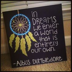 Harry potter quote canvas dreamcatcher