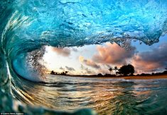 Stunning photo of a wave by Nick Selway.