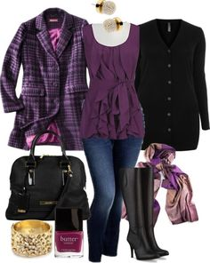 Purple Layers - Plus Size