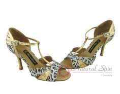 Natural Spin Tango Salsa Shoes/Tango Shoes/Fashion Shoes(Open Toe, Leather):  TL