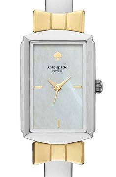 kate spade new york 'bowtie' bangle watch, 17mm x 27mm