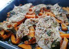 Bazsalikomos-rozmaringos tepsis csirke édesburgonyával | Gaál Emese receptje - Cookpad receptek