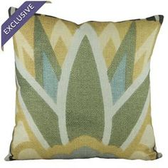 Linen-blend pillow with an Art Deco design. Handmade in the USA exclusively for Joss & Main.  Product: PillowConstruction Material: Linen blendColor: MultiFeatures:  Handmade by The Watson ShopEnvelope enclosureHandmade in USA Art Deco-inspired designInsert includedExclusive Joss & Main productDimensions: 16 x 16Cleaning and Care: Dry clean only