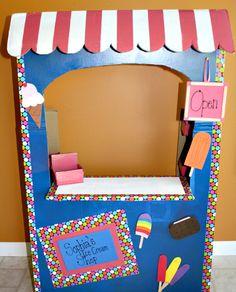 Play Ice Cream Shop - DIY Tutorial from a Large Cardboard Box
