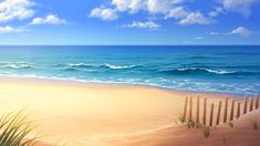 Long Island Beach by tamiart on DeviantArt Episode Interactive Backgrounds, Episode Backgrounds, Anime Backgrounds Wallpapers, Anime Scenery Wallpaper, Beach Background Images, Scenery Background, Background Drawing, Casa Anime, Island Beach