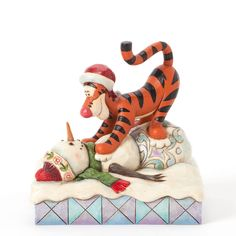 Disney Traditions Jim Shore Christmas Snowman 4039044 What Tiggers do Best | eBay