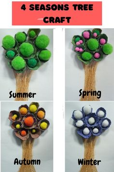 Summer Crafts For Kids, Craft Projects For Kids, Fall Crafts, Art For Kids, Arts And Crafts, Art Projects, Nature Crafts, Craft Ideas, Egg Carton Art