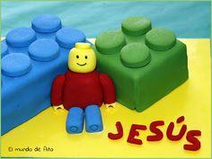 El mundo de Aito: Tarta LEGO (con receta de bizcocho de naranja)
