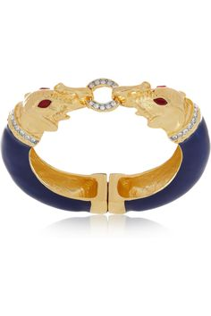 Kenneth Jay Lane  22-karat gold-plated crystal bracelet  $250