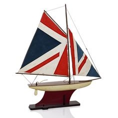 Union Jack Model Sailing Boat - Stoneleigh & Roberson - on Temple & Webster today. Britain's Got Talent, Zen Space, Union Flags, Seaside Style, Uk Homes, England Fashion, Sailing Boat, Isle Of Man, Union Jack