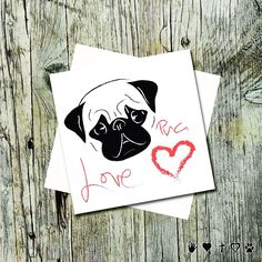 Lulu's Minions just got a new recruit! Check out the new 'Love Pug' design in our Lulu's Minions range of cats and other animal illustrations, cards & collectibles