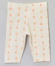 Loving this Cream & Coral Arrow Leggings - Infant & Toddler on #zulily! #zulilyfinds