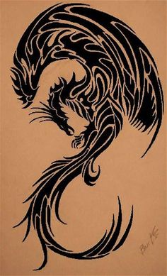 75b7606f44ffa Image result for Tribal Phoenix Tattoo Designs Japanese Tatoo, Tribal  Dress, Tribal Tattoos,