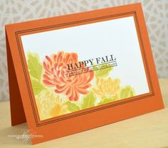 Happy Fall Card by Nichole Heady for Papertrey Ink (August 2013)