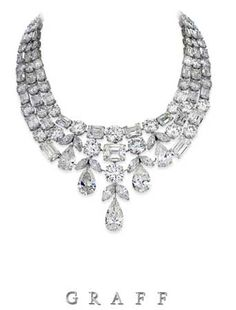 Graff Diamond necklace featuring 275 carats of white diamonds