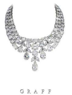 Graff Diamond necklace featuring 275 carats of white diamonds