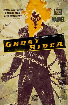 Ghost Rider Illustrated Movie Poster by ~nicolehayley
