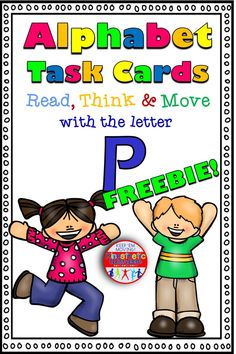 Alphabet Task Cards Letter P Teaching The Alphabet, Alphabet Activities, Teachers Pay Teachers Freebies, Sounding Out Words, Kinesthetic Learning, Love Teacher, Free Math, Letter Sounds, Elementary Teacher