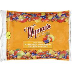 Wymans of Maine Fresh Frozen Blueberries, Strawberries and Mango Chunks, 3 lb