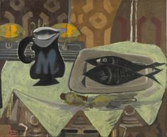 Georges Braque, Still Life with Black Fish, 1942. Collection of the Toledo Museum of Art.