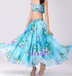 Summer beach skirt women Long Skirt Maxi skirt Dress by SCloth, $42.00