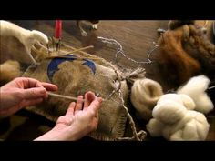 How To Needle Felt - Mouse Series 3: Building up the Body by Sarafina Fiber Art - YouTube