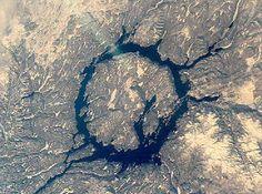 Popigai crater (or astrobleme) in Siberia, Russia